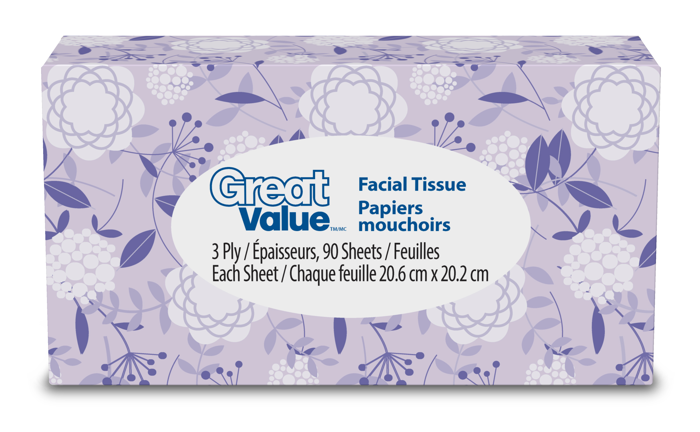 27520 - Facial Tissue Paper-Great Value Brand USA