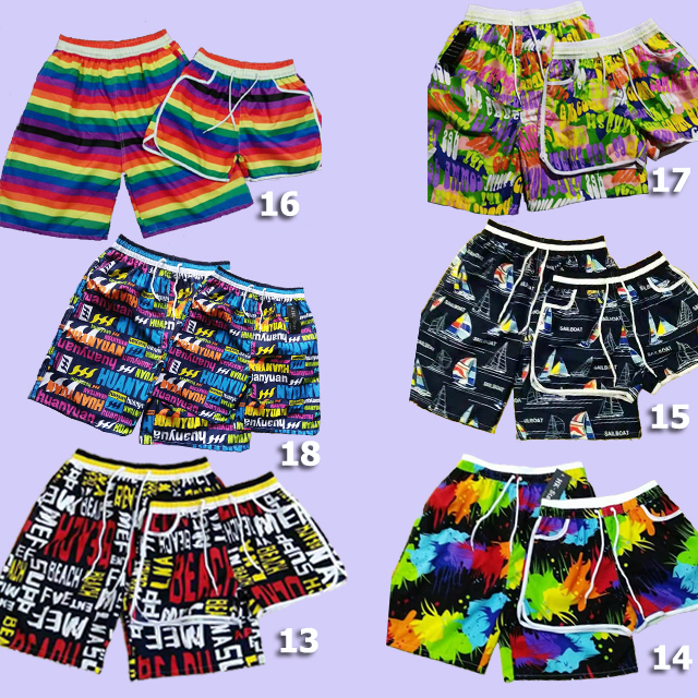 30700 - Stock Lot Couple Beach Shorts China