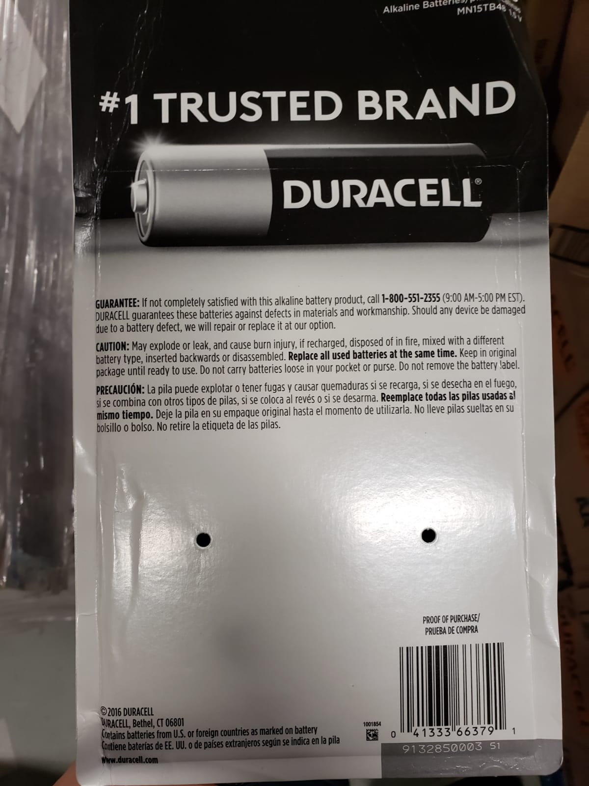 36013 - Duracell Batteries New USA