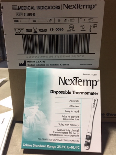 36158 - NexTemp Disposable Thermometers USA
