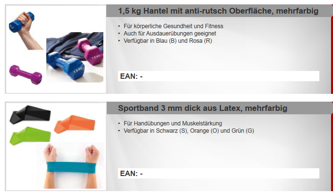 36242 - Special offer: anti-slip dumbbells and sports band Europe